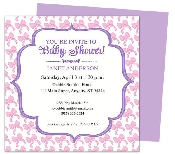 baby shower invite words