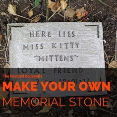 1000+ ideas about Pet Grave Markers on Pinterest