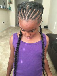 Goddess braids, half braided, Halo, beehive, black girl ...