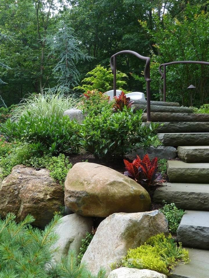 landscaping and quotes pictures of front yard hillside landscaping ideas retaining walls
