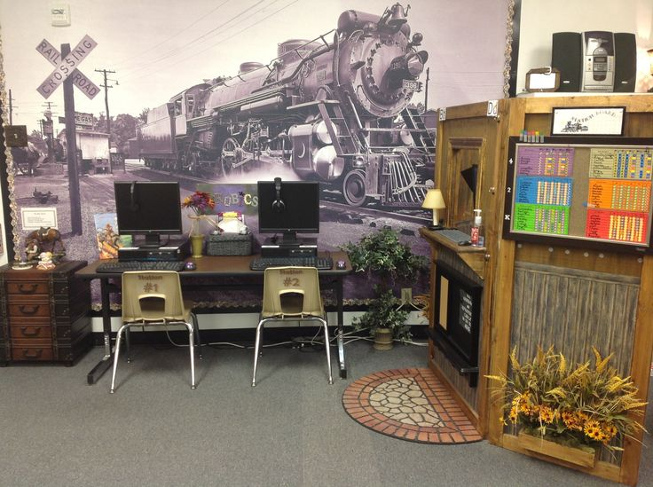 Rail Mural Train Mural | My Classroom: Prek-5th Grade Reading Lab