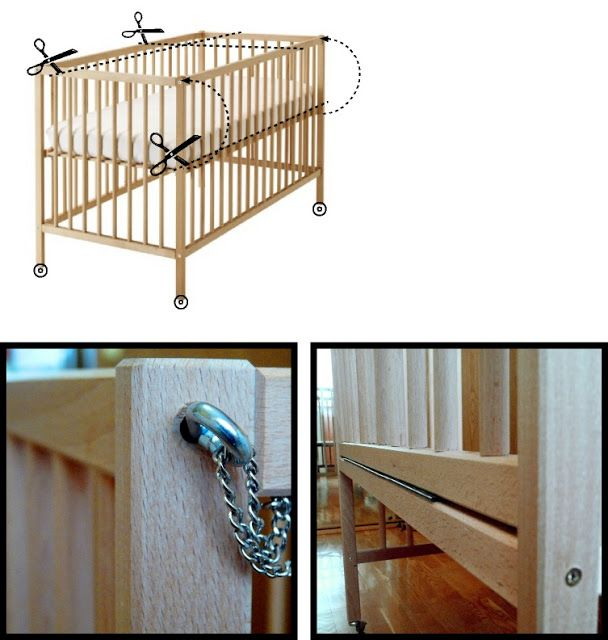 Sniglar Crib Sniglar – Crib Co Sleeper - Ikea Hackers. Good Idea In