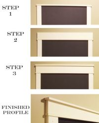 Chalkboard Frame or Craftsman style door casings