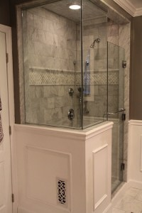 Created by Tina - 6x6 carrara marble; border is pillowed ...