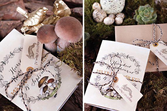 Chrystalace Wedding Stationery Gold Enchanted Forest