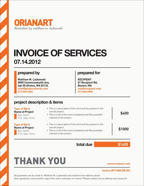 Accounting Resume And Cover Letter Center Very Nice Invoice Design By Orianart Beautiful