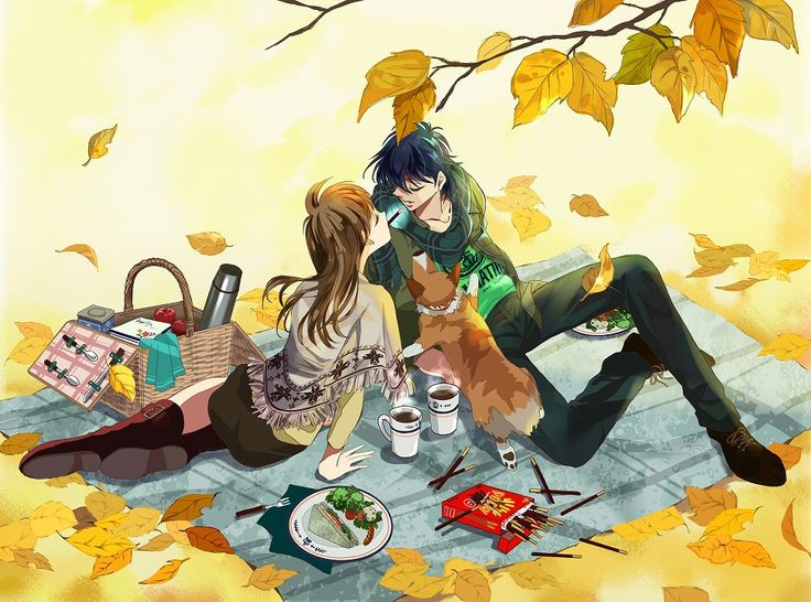 Boy And Girl Hugging Wallpaper Anime Girl And Anime Boy On A Picnic Pretty Anime Style