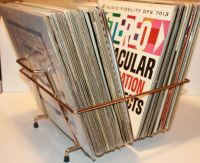 Awesome flip-style mid-century record rack | Vinyl Record ...