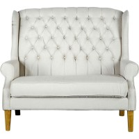 Tufted high-backed loveseat... if only this would fit in ...