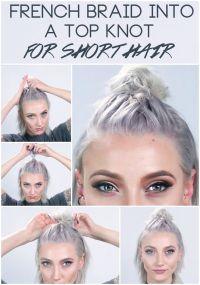 1000+ ideas about Braiding Short Hair on Pinterest | Short ...