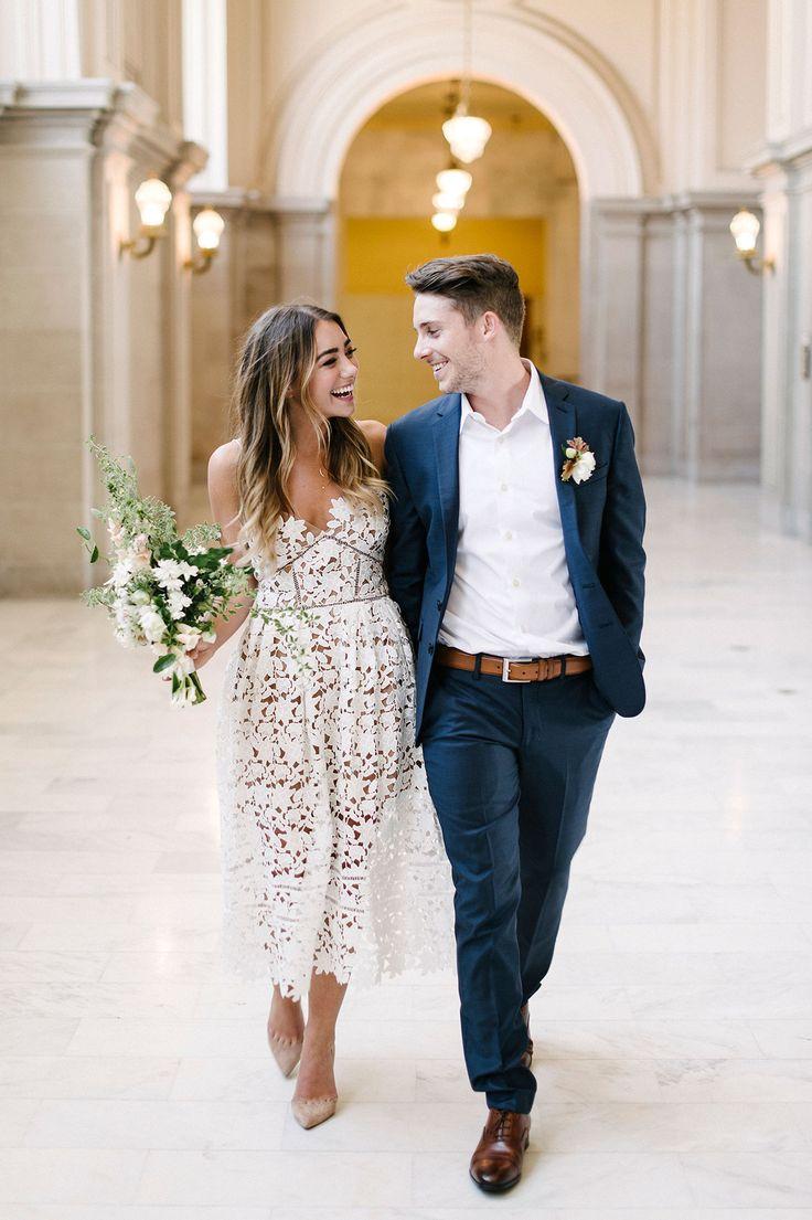 civil ceremony civil wedding ceremony dresses Ten City Hall Wedding Tips bride and groom wedding photography elopement ideas