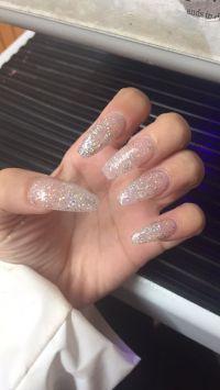 Glitter Nails Long Acrylic Coffin Shape Nails | My Nails ...