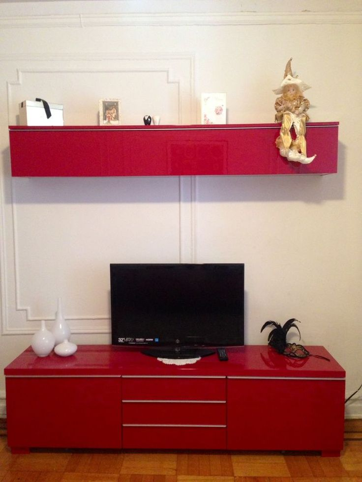 Ikea Furniture Tv Stand Beautiful Ikea Besta Burs Tv Stand + Wall Shelf | Tv Stands