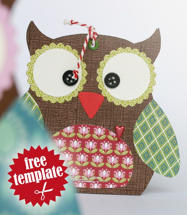 Free Template Owl Gift Box My Paper Tutorials