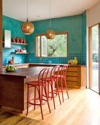 31 Bright and colorful kitchen design inspirations ...
