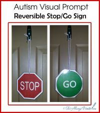 Free printable Autism Visual Prompt - Stop and Go door ...