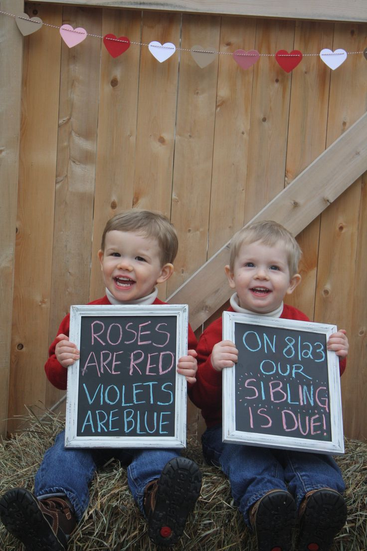 sibling baby announcement