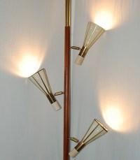 A stiffel tension pole lamp. | Mid-Century Tension Pole ...