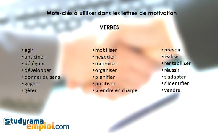 verbe action cv exemple