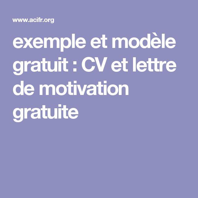 model de lettre et cv ooowriter