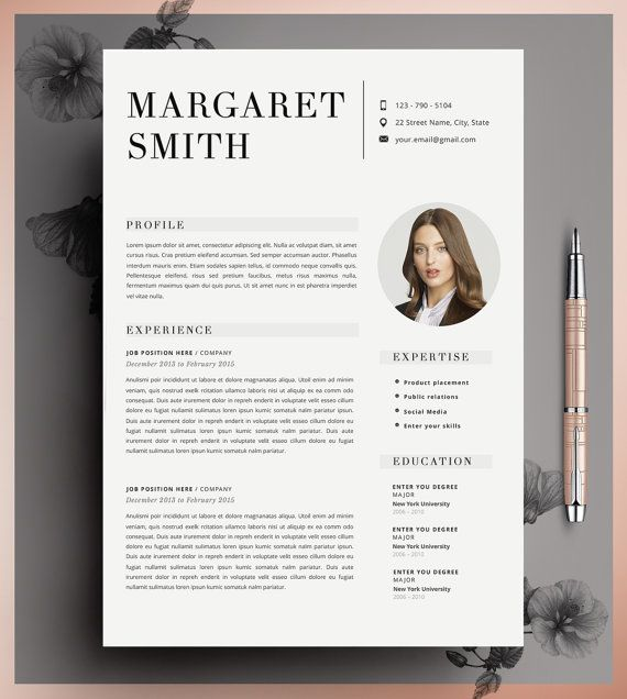 template cv word gratuit pinterest