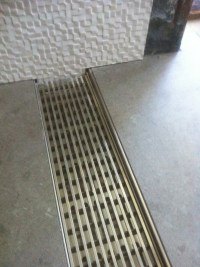 No Curb Shower Drain. Makes a custom tile shower zero ...