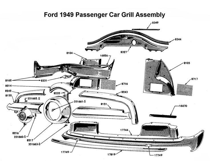 1953 ford victoria grill