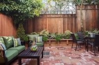Concrete patio - want a privacy fence around it but what ...