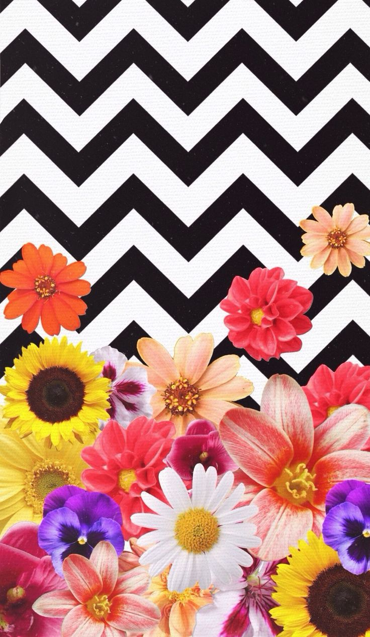 Cute Wallpapers For Your Lock Screen Chevron Flowers Design By Daniella Garcia Wallpapers