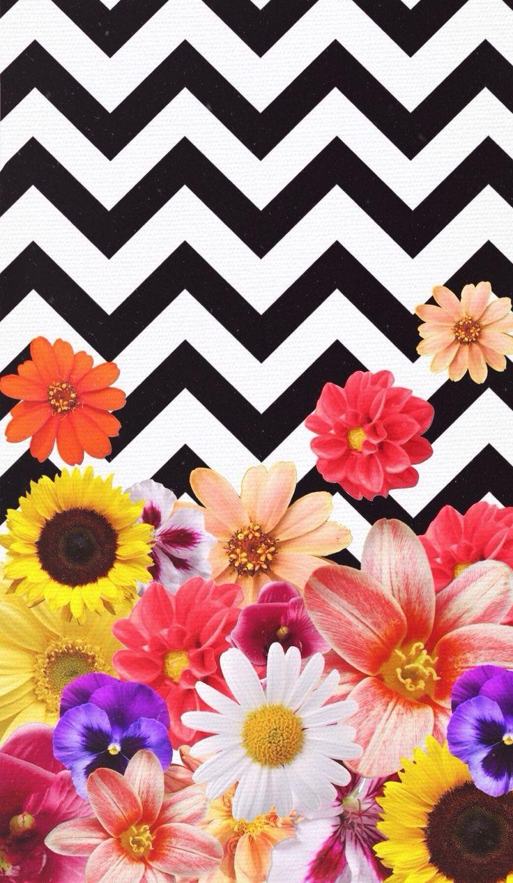Cute Wallpapers We Heart Chevron Flowers Design By Daniella Garcia Wallpapers