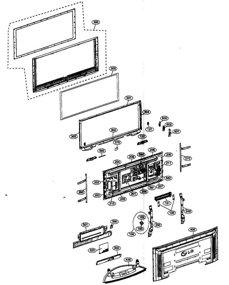 diagram of lg tv