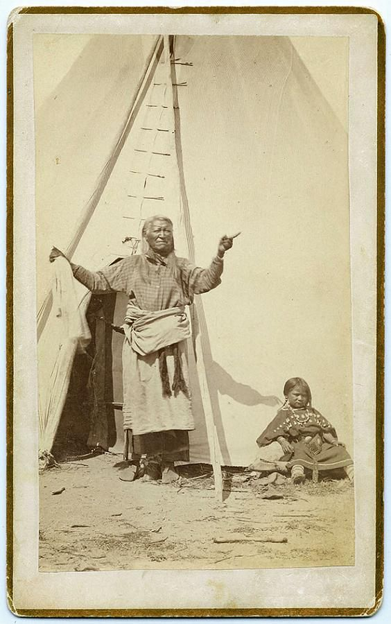 Tipi Kat Shoshone Chief Washakie By Tipi, By Baker & Johnston, 1885