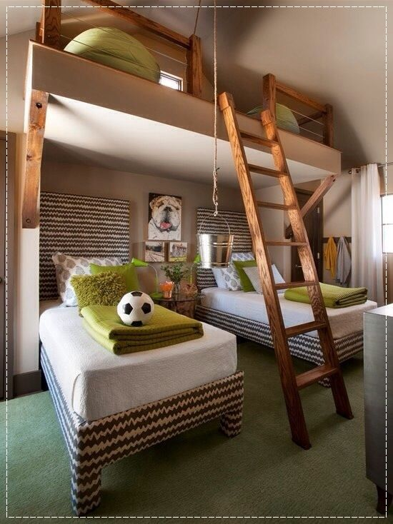 17+ Images About Bunk Room On Pinterest | Leather Rugs, Guest