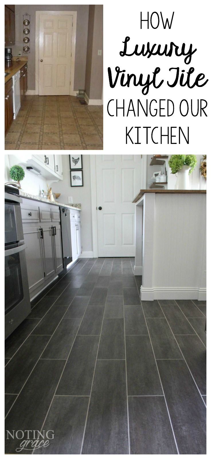 vinyl flooring flooring for kitchen It took only 3 days and to completely transform our kitchen with groutable Luxury Vinyl