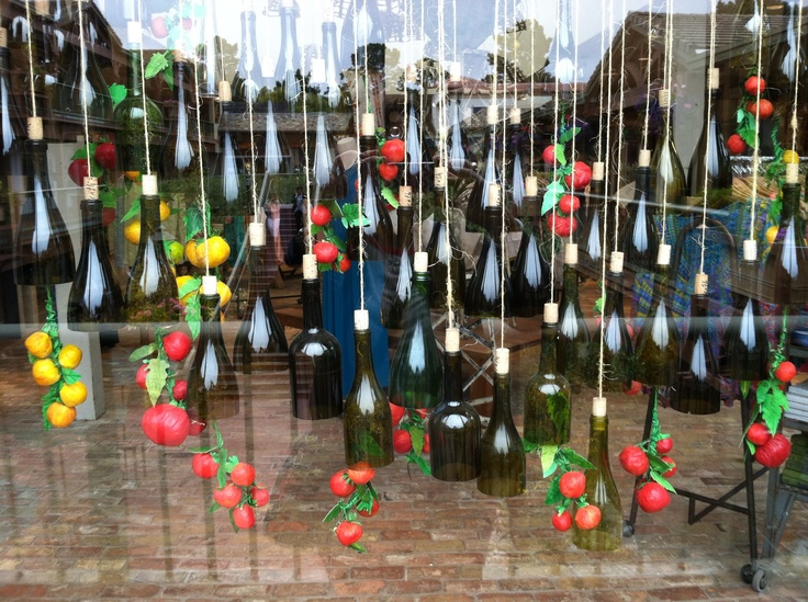 Hanging Edison Lights Another Incredible Anthropologie Window Display - Hanging