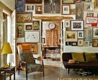 A cluttered wall, via Elle Decor | Gallery | Pinterest ...