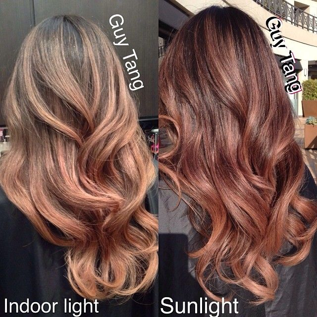 Brunette Ombre Vs Balayage Gave My Client Melllllerrs Natural Rose Gold Tones She