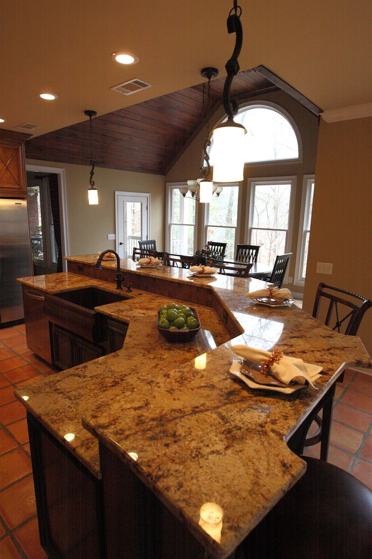 Granite Top Kitchen Island With Seating Kitchen Islands With Seating | Large Island With Seating