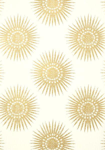 Bookshelf Iphone Wallpaper Bahia Wallpaper In Metallic Gold On Cream The Large