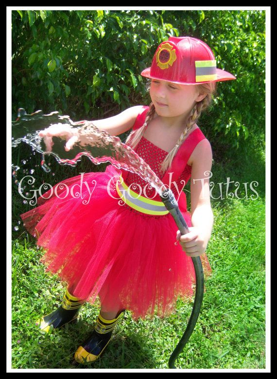 Infant Baby Halloween Costumes Fireball Firefighter Inspired Tutu Dress Up To Girls 4