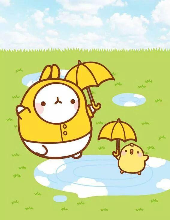 Kawaii Wallpapers Cute Rainy Season Molang Pinterest Seasons And Rainy Season