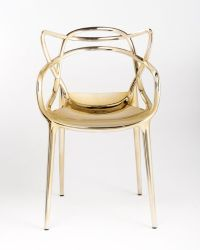 Gold Starck Masters Chair from Kartell. Plastic chair with ...