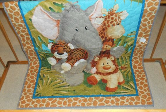 Baby Quilts Handmade Zoo Animals Baby Quilt Baby Blanket Unique Gifts