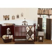 11pc Teddy Bear Crib Set  Brown- Sweet Jojo Designs by ...