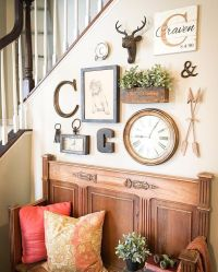 25+ best ideas about Rustic gallery wall on Pinterest