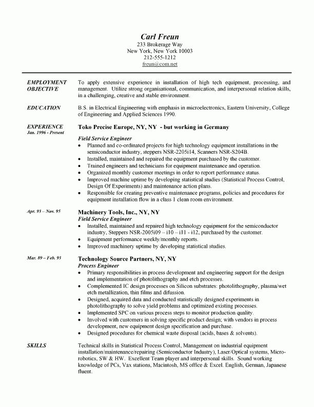 Example Of A Professional Resume Resume With Profile Resume - skills profile resume
