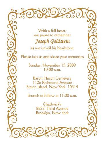 tombstone invitations