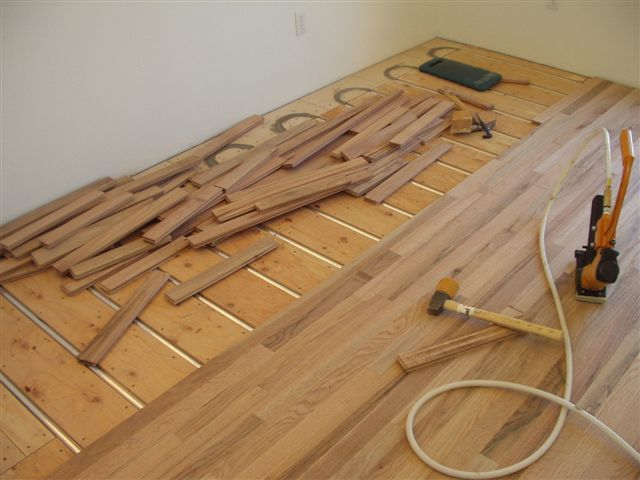 Wood Floor Over Hydronic Radiant Heating System Radiant
