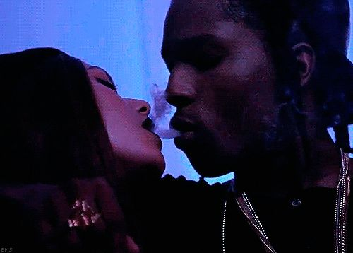 Boy And Girl Kissing Hd Wallpapers Asap Rocky Purple Kisses Weed Smoke Weed