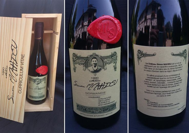 cv design bouteille de vin